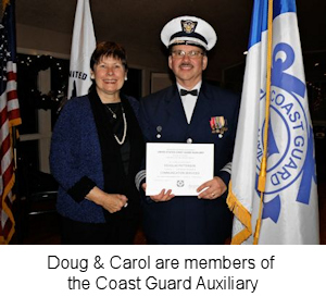 Carol and Doug Patterson, USCG Aux Change of Watch 2014