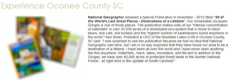 Jocassee Gorges - Walhalla Chamber of Commerce