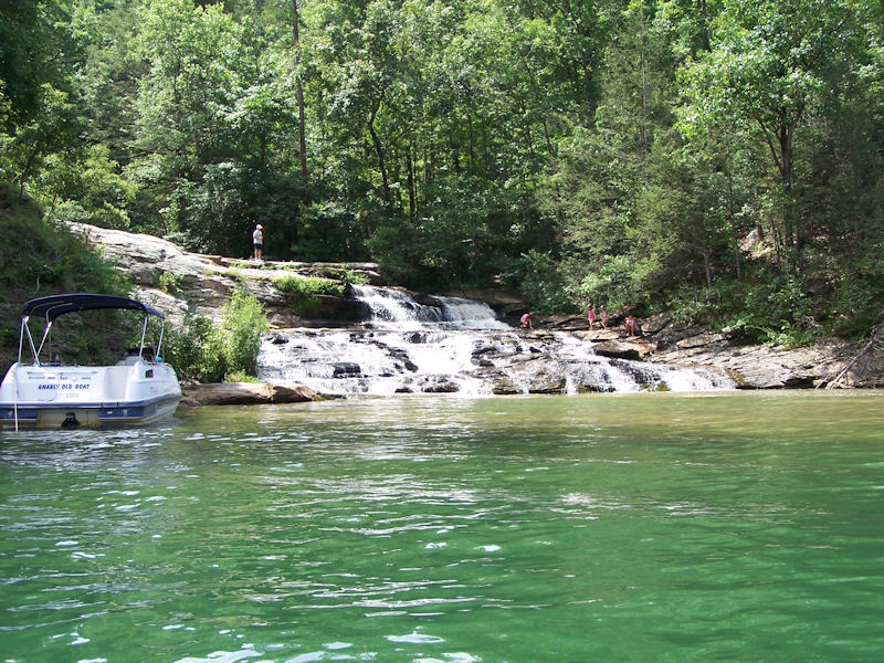 Waterfall on Lake Keowee