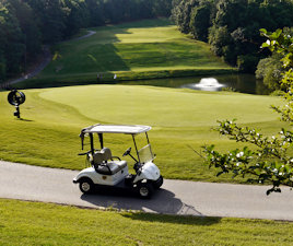 Keowee Key golf cart path and green
