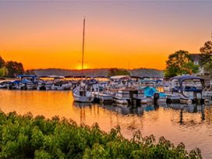 Sunrise Over Keowee Key Marina Boat Slips and Sunrise Pointe Townhomes