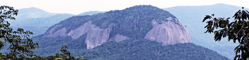 Looking Glass Rock on The Blue Ridge Parkway